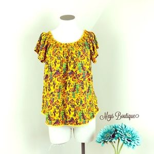 Tops - ⭐️Stunning Yellow Floral Summer Blouse⭐️